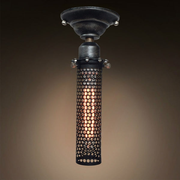 Grid Cage 1 Light Flush Mount Ceiling Lighting -  westmenlights
