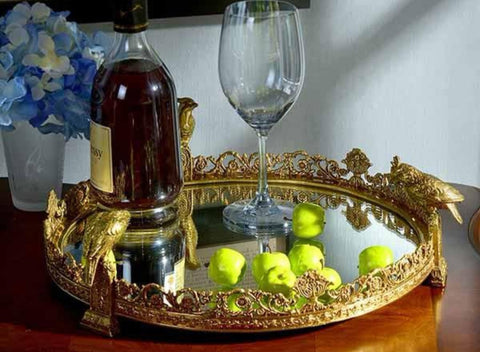 Decorative Modern Brass Tray -  westmenlights