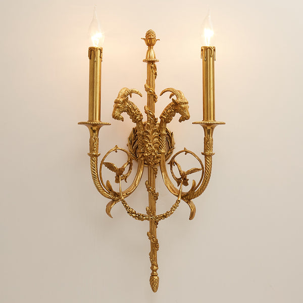 dragon gilt bronze sconce -  westmenlights