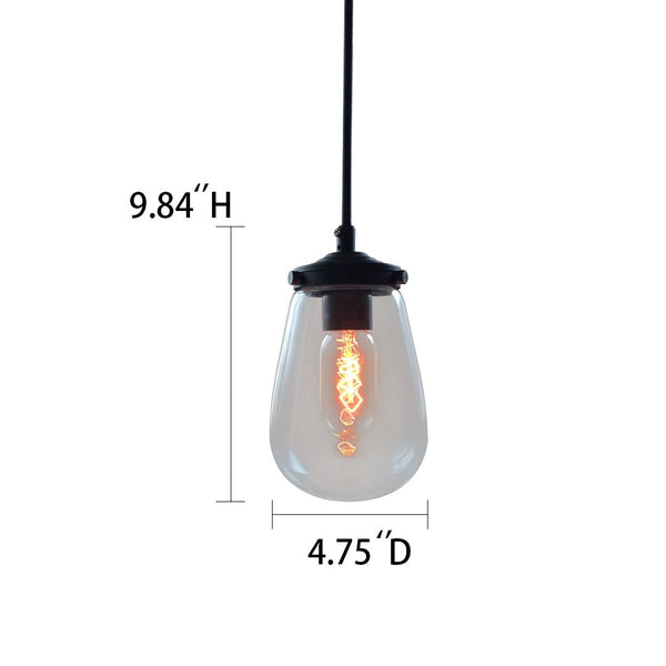 Globe 1 Light Clear Glass Pendant Light -  westmenlights