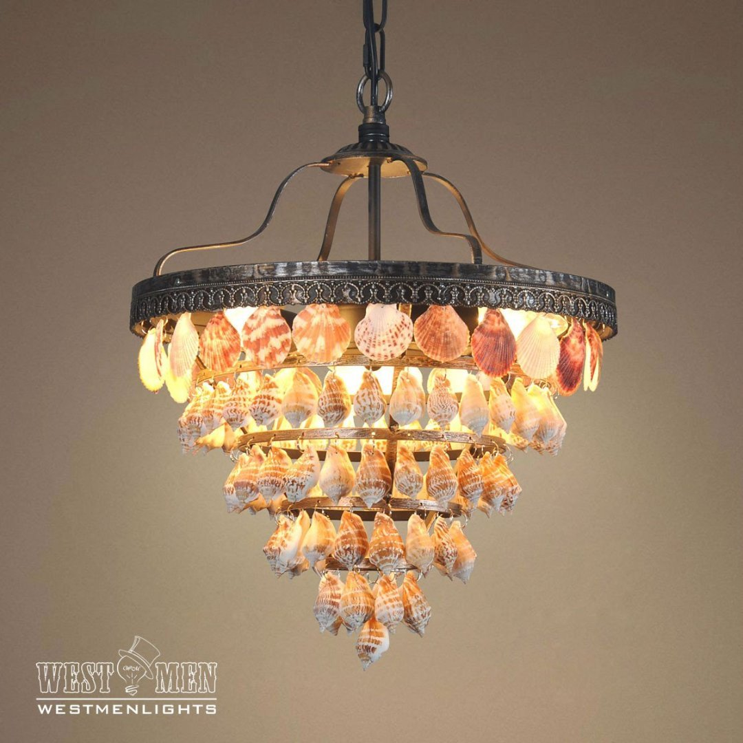 Capiz 3 lights pendant light5 tierstrumpet shell westmenlights westmenlights capiz seashell chandelier capiz 3 lights aloadofball Choice Image