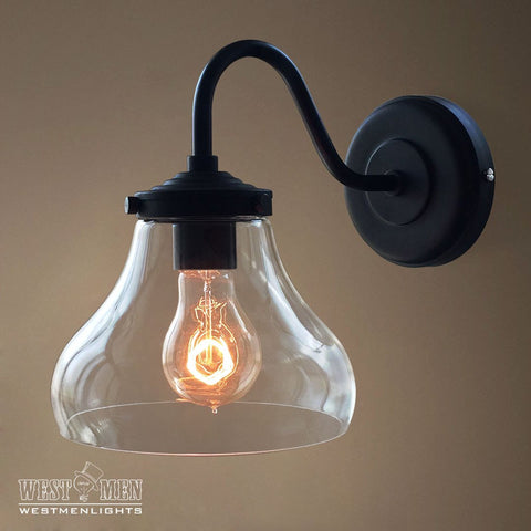 Bell 1 Light Swing Arm Glass Sconce