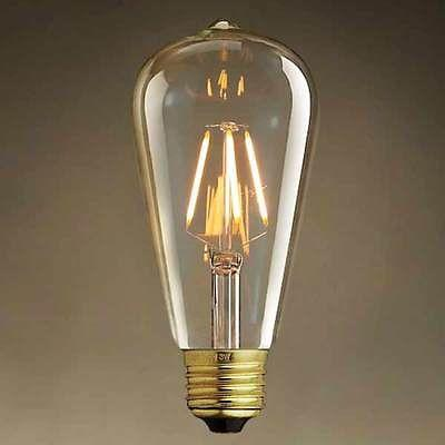 4W E27 Globe LED Edison Bulb 6 piece lot