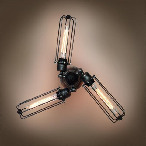 Cylinder 4 Lights Cage Swing Arm Sconce