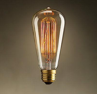 40W E27 Globe Incandecent Edison Bulb 6 piece lot