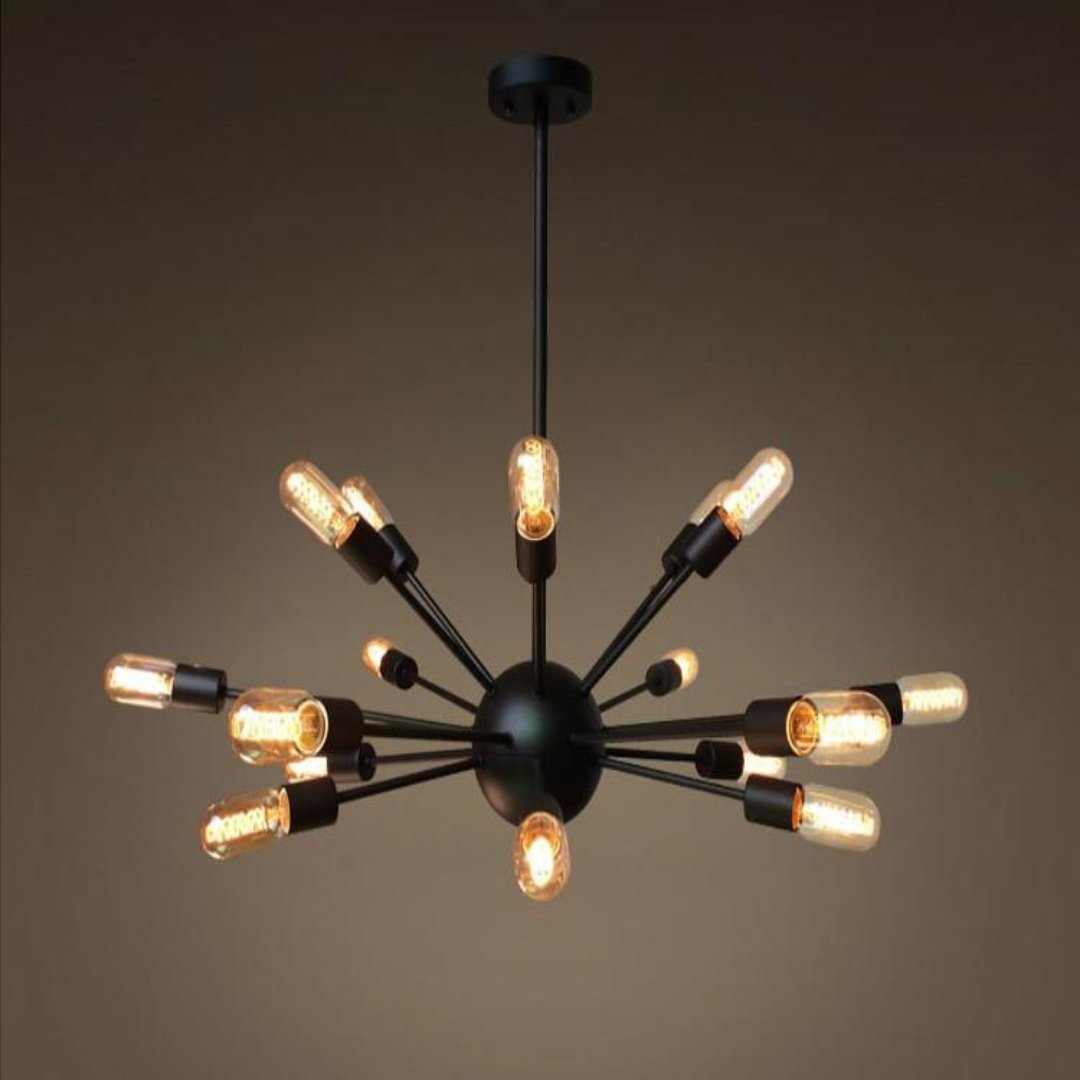 Good Sputnik 18 Lights Brown Metal Chandelier Lighting ...