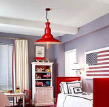 Cone 1 Light Red Hanging Pendant Lighting