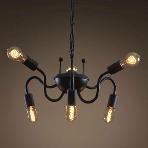 Spider 6 Lights Metal Hanging Chain Chandelier | Coupon:Spider99
