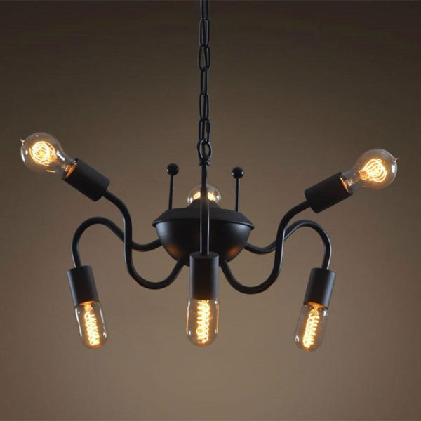 Spider 6 Lights Metal Hanging Chain Chandelier -  westmenlights
