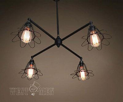 4 Lights Cage Chandelier Lighting -  westmenlights