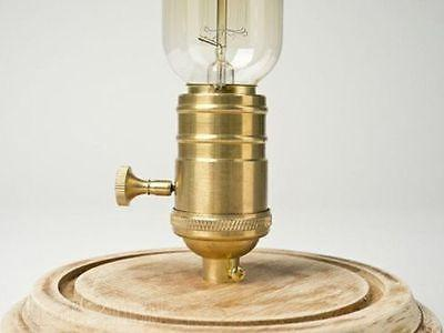 Bell Glass Jar 1 Light Wooden Base Table Lamp -  westmenlights