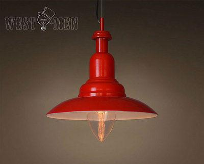 Cone 1 Light Red Hanging Pendant Lighting -  westmenlights