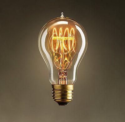 40W E27 Spiral Incandecent Edison Bulb 6 piece lot
