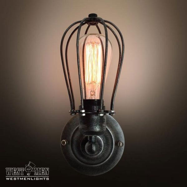 industrial cage wall sconce