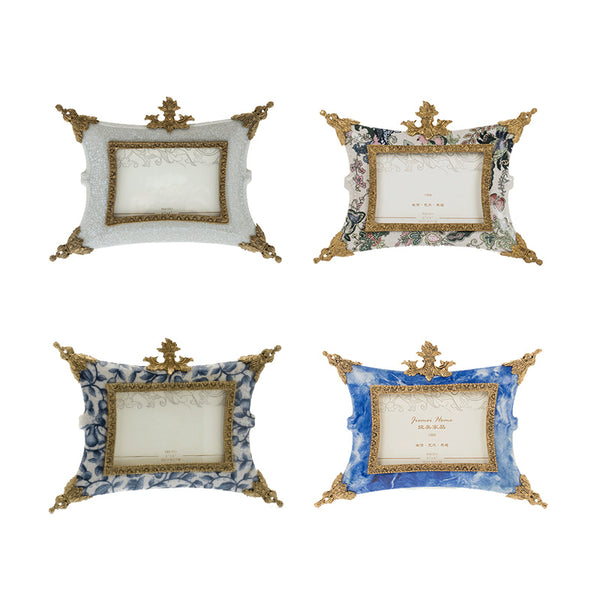 KIMI gilt bronze photo frames with porcelain