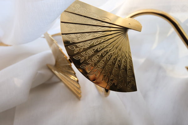 KAWA folding fan brass Curtain hooks -  westmenlights