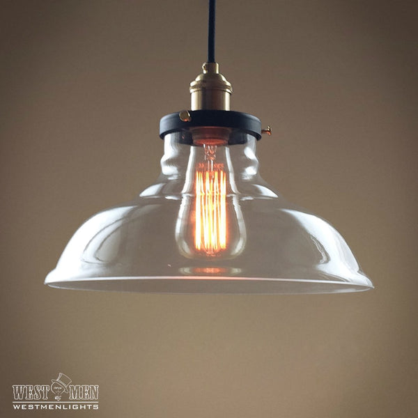 Bell 1 Lights Large Glass Kitchen Pendant Light -  westmenlights