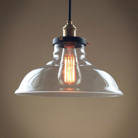 Bell 1 Lights Large Glass Kitchen Pendant Light