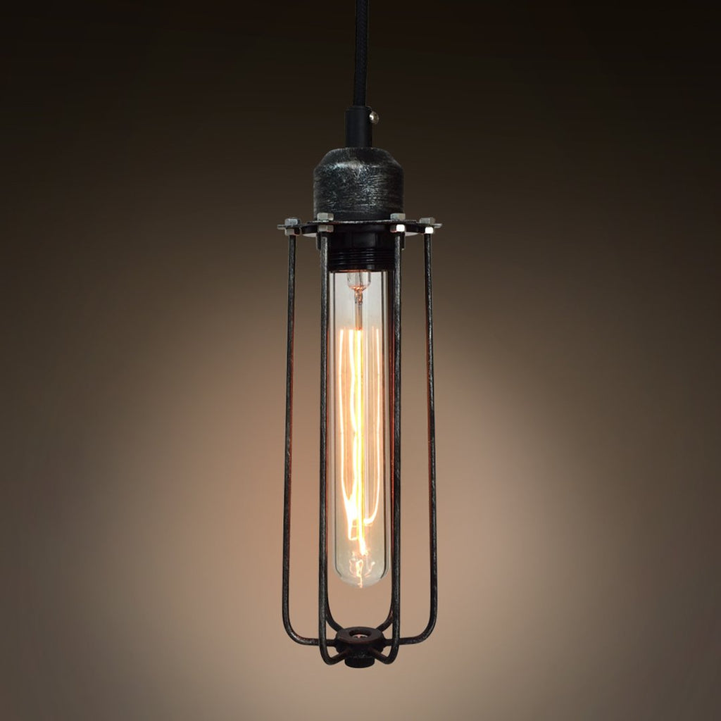 Cylinder 1 Light Cage Metal Mini Pendant Light -  westmenlights