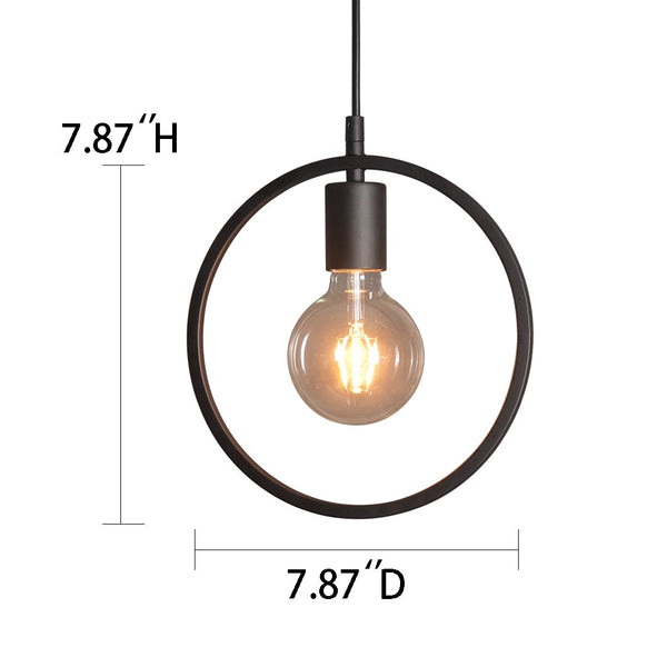 Circular 1 Light Mini Metal Pendant Lighting -  westmenlights