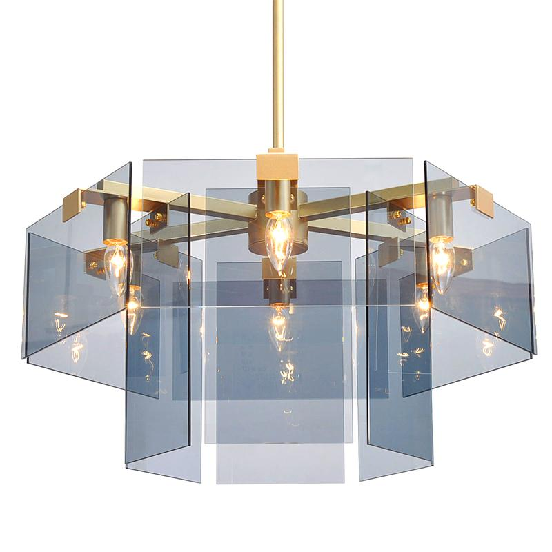 Rectangle Glass Chandelier -  westmenlights