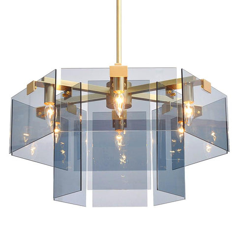 Rectangle Glass Chandelier