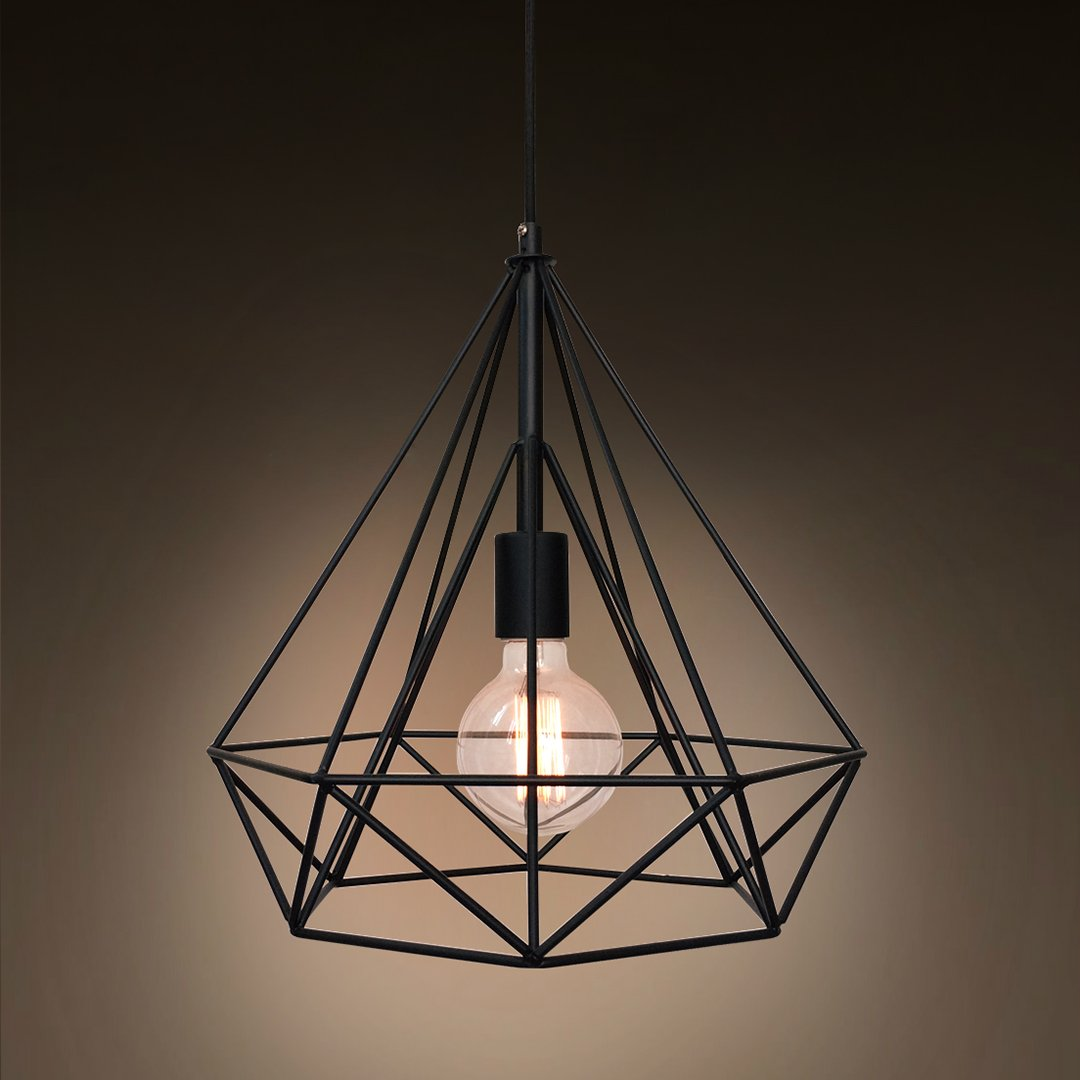 Diamond 1 light large cage pendant light westmenlights electric diamond 1 light large cage pendant light aloadofball Image collections