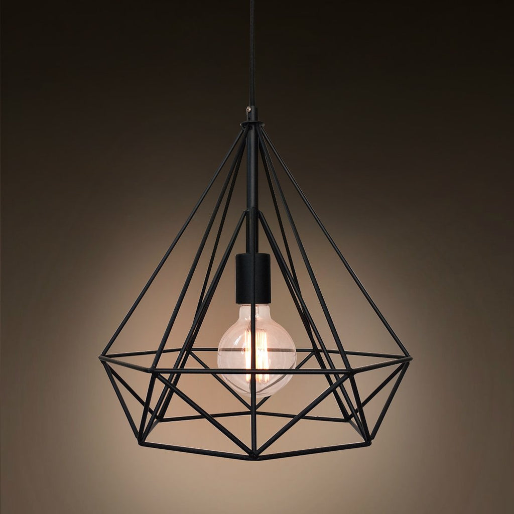 Diamond 1 Light Large Cage Pendant Light -  westmenlights