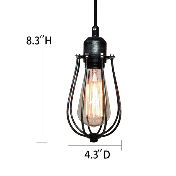 Globe 1 Light Cage Mini Pendant Light -  westmenlights