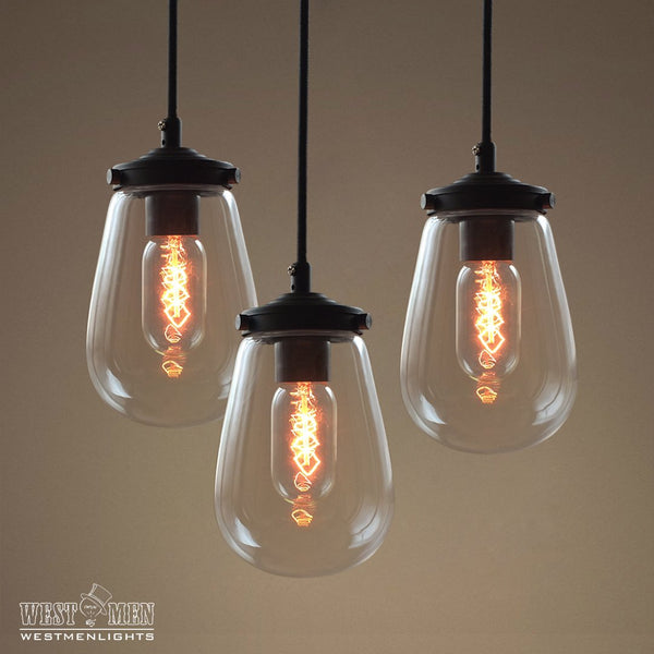 Globe 1 Light Clear Glass Pendant Light