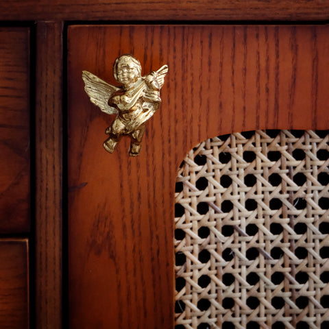 KAWA angel vintage brass wall & door handle -  westmenlights