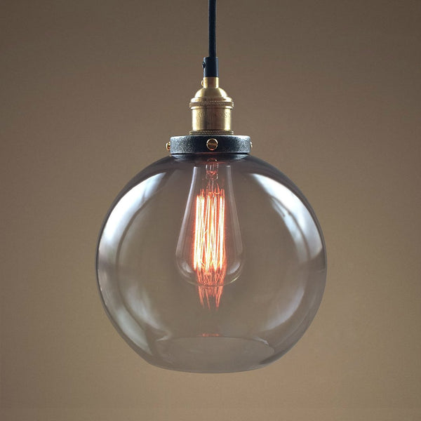 Globe 1 Light Smoke Glass Pendant Light -  westmenlights