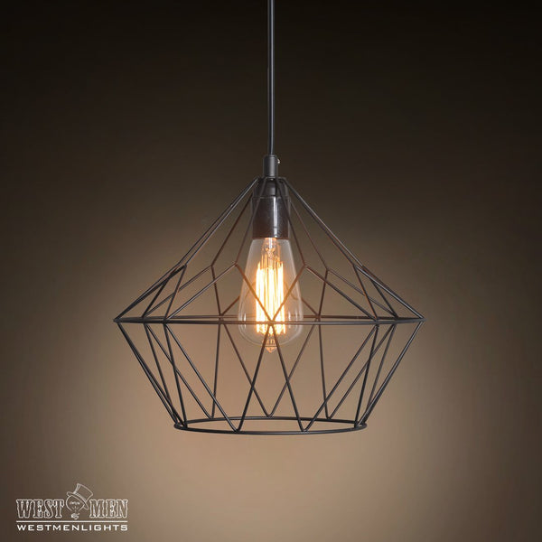 Grid Bell 1 Light Metal Pendant Light