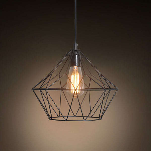 Grid Bell 1 Light Metal Pendant Light -  westmenlights