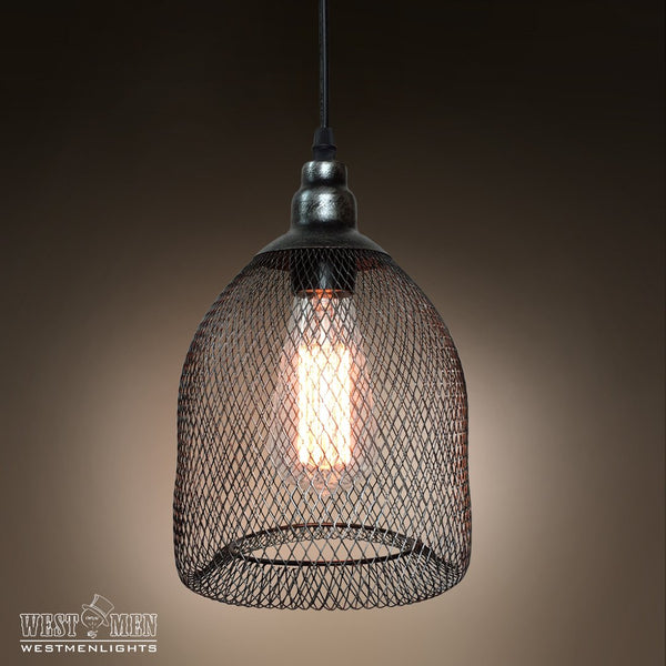 Grid Metal adjustable 1 Light Pendant Light -  westmenlights