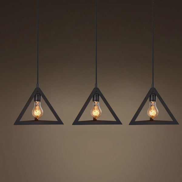 Triangle Metal Pendant Light Pack of 3 -  westmenlights