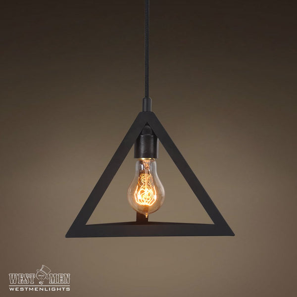 Triangle Metal Pendant Light Pack of 3