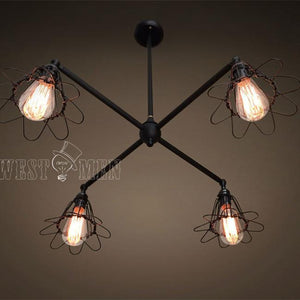 4 Lights Cage Chandelier Lighting