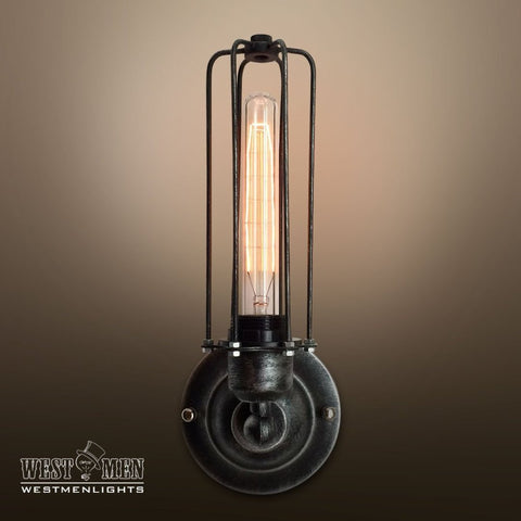 Cylinder 1 Light Cage Wall Sconce