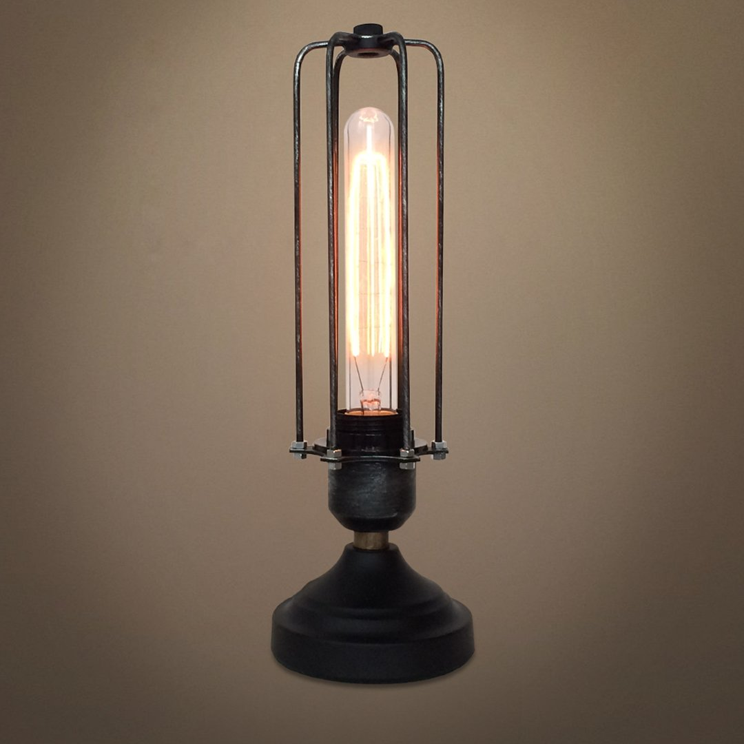 Cylinder 1 Light Cage Metal Mini Table Lamp ...
