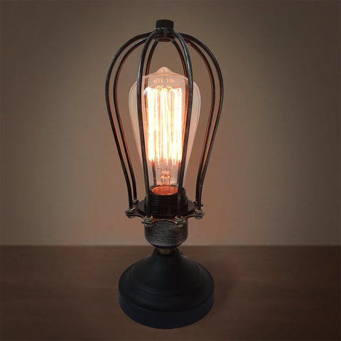 Globe 1 Light Cage Table Lamp -  westmenlights