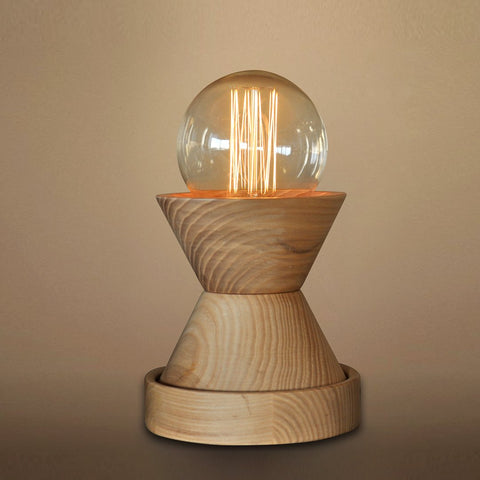 Wooden 1 Light Mini Dimmer Table Lamp