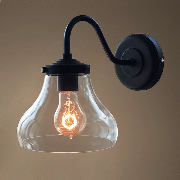 Bell 1 Light Swing Arm Glass Sconce -  westmenlights