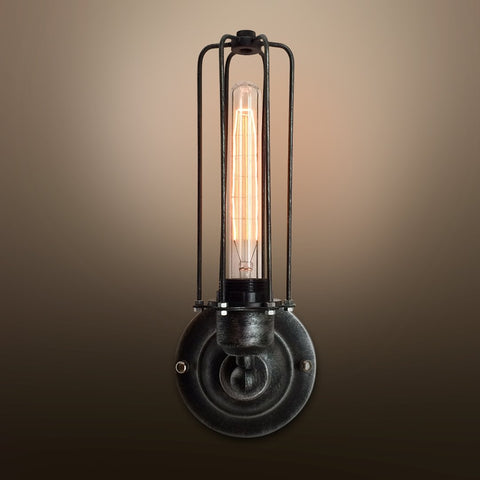 Cylinder 1 Light Cage Wall Sconce -  westmenlights
