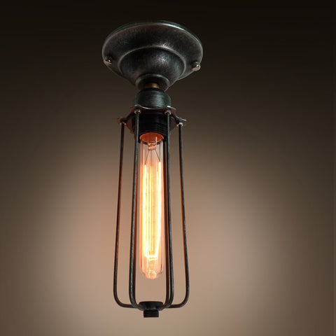 Cylinder 1 Light Cage Mini Ceiling Lighting