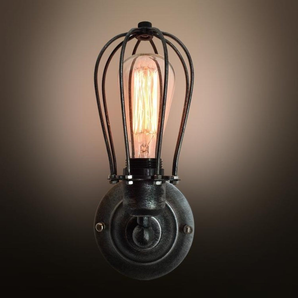Globe 1 Light Cage Wall Sconce & Globe 1 Light Cage Wall Sconce - westmenlights