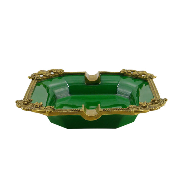 European-style high-end creative ceramics with copper ashtrays, living room decorations, American home furnishings