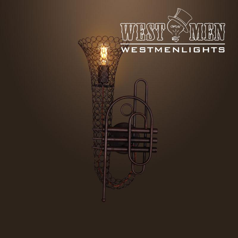 Trumpet 1 Light Brown Metal Wall Sconce -  westmenlights