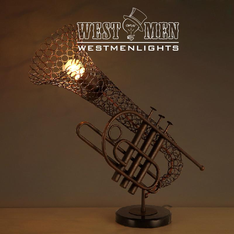 Trumpet 1 Light Brown Metal Table Lamp -  westmenlights
