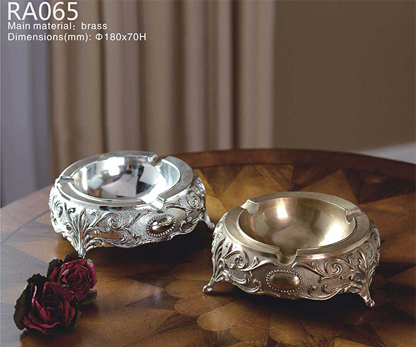 Handmade Silvery Ashtray -  westmenlights